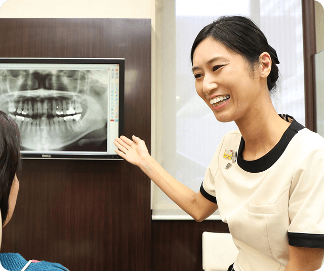 毎回の診療内容を、わかりやすく伝えることが出来る歯科医院