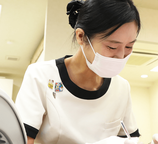 全身麻酔をかけて手術を受けられる患者さま